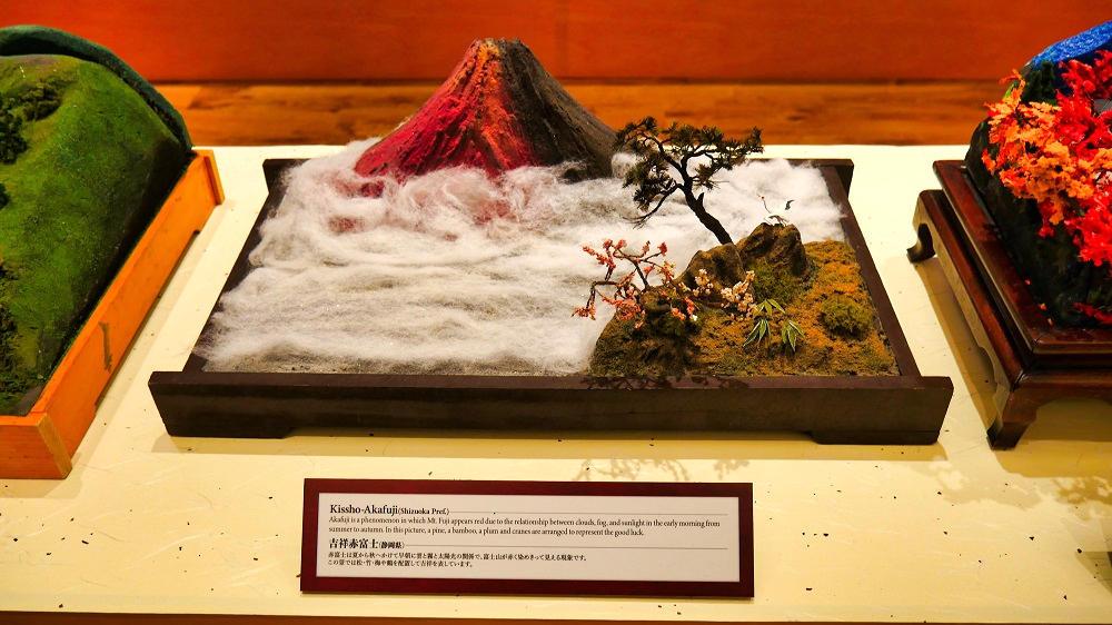 吉祥赤富士(静岡県)の盆景