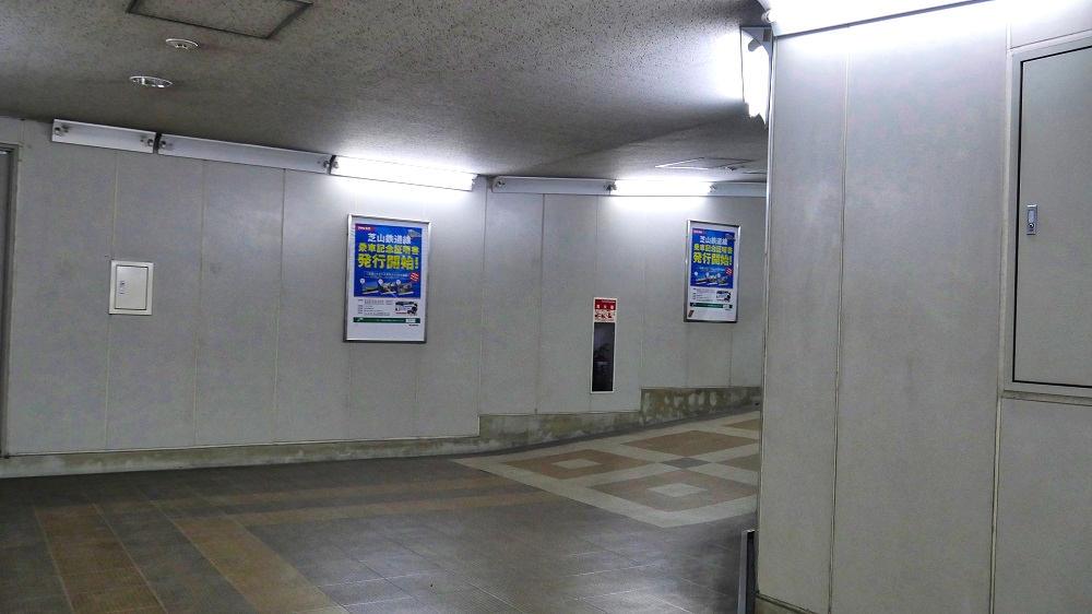 東成田駅から第2ターミナルまでの連絡通路、出口付近