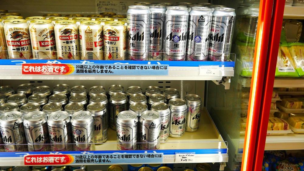 ジェットスターショップではアルコール飲料も販売中