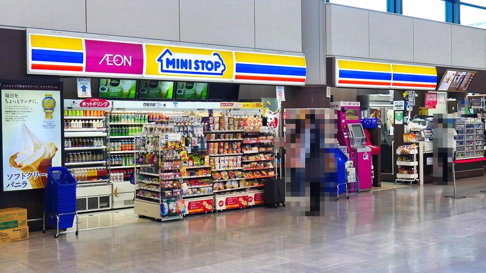 第1ターミナル1F「ミニストップ」はお湯入りポットの店頭設置なし