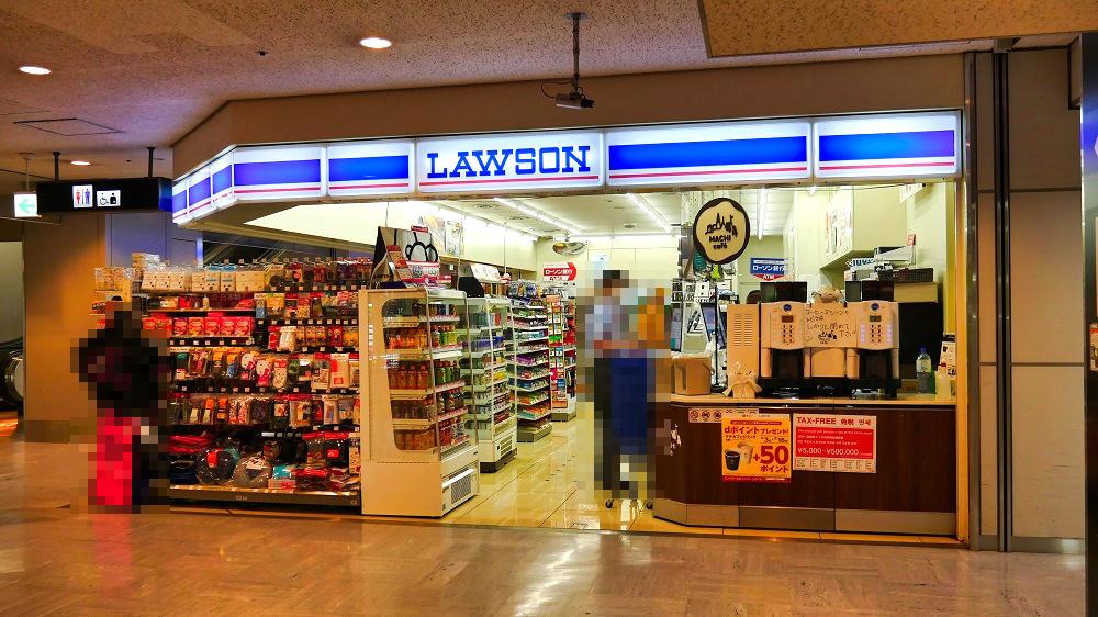 第1ターミナルB1F「ローソン」ではマスク売り切れ