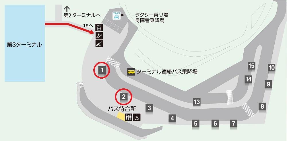 第3ターミナル『エアポートバス東京・成田』停留所
