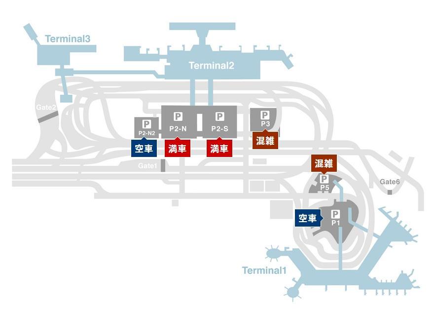 成田空港の駐車場マップ