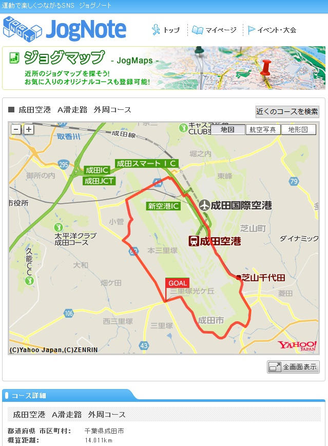 成田空港A滑走路外周は14.011km