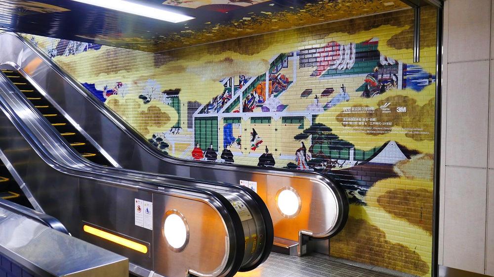 日本美術名品ミニギャラリー、中央通路の展示