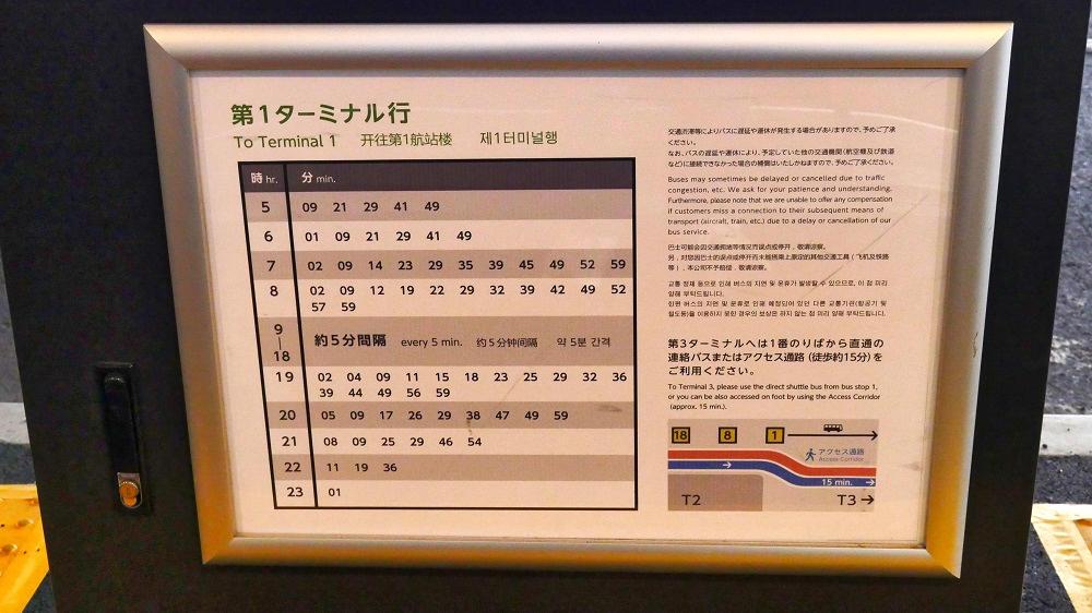 第2ターミナル【8番停留所】の時刻表