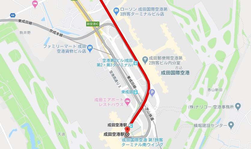 【ルート①】JR線(JR成田線・成田エクスプレス)