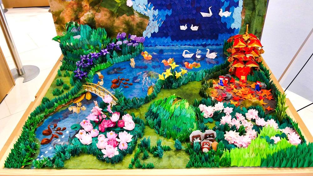 近江おりがみの会制作「母なる琵琶湖」