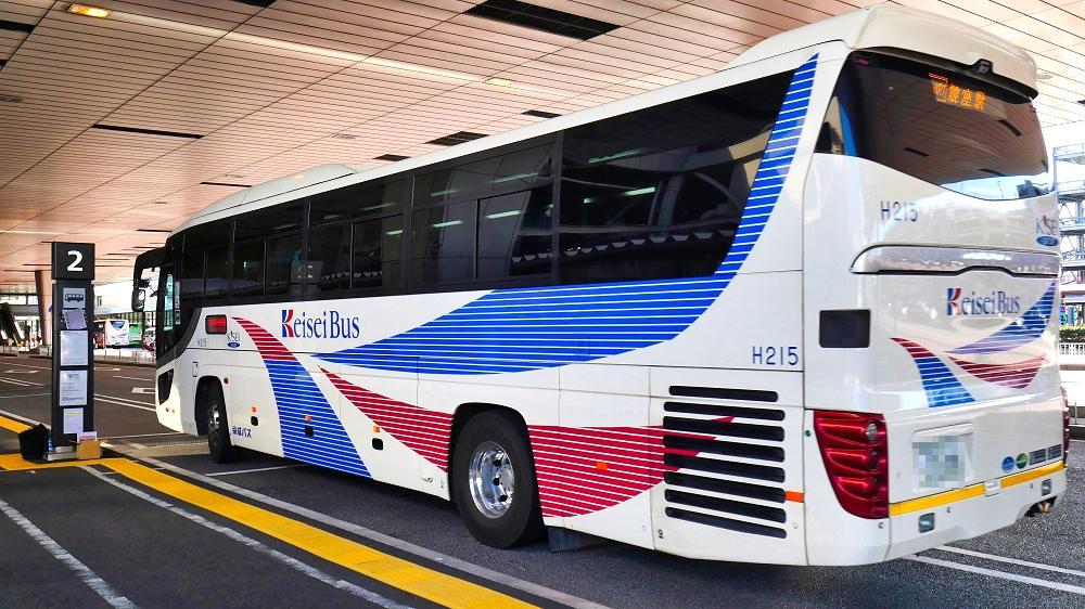 京成バスも多くの便が運休に...。
