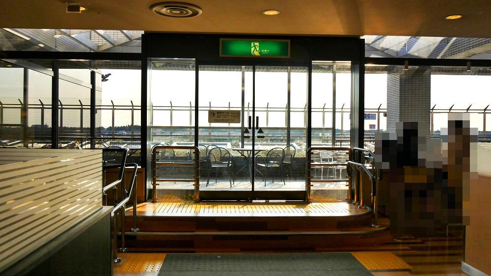 第1ターミナル屋上の『展望デッキ』は5Fフードコートと直結