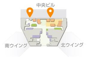 第1ターミナル屋上の『展望デッキ』位置
