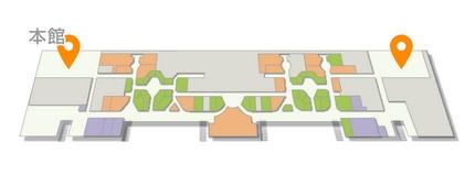第2ターミナル『見学デッキ』位置